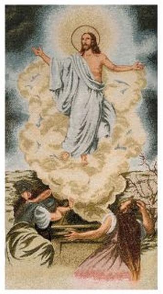 Copriambone ricamo a telaio Resurrezione