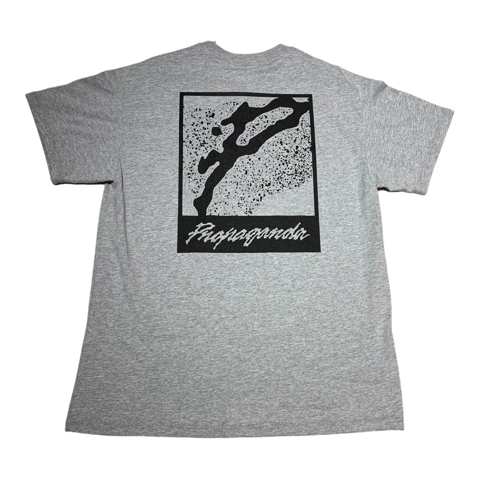 T-shirt Propaganda - Logo Complete P Grey/black
