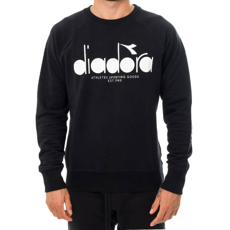 Felpa Diadora - Sweat shirt Black Man C7306