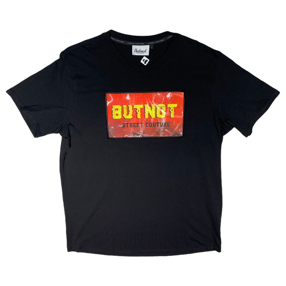 T-shirt Butnot - Patch 3D Lenticolare Black