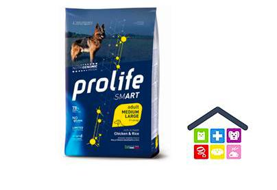 Prolife | Linea Smart | Adult Medium /Large - Pollo e Riso / 2,5 kg - 12 kg