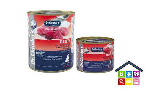 Dr. Clauder's | Umido Cane - Linea Pre Biotics | Carne Selezionata di Manzo / Scatoletta 200/400/800gr