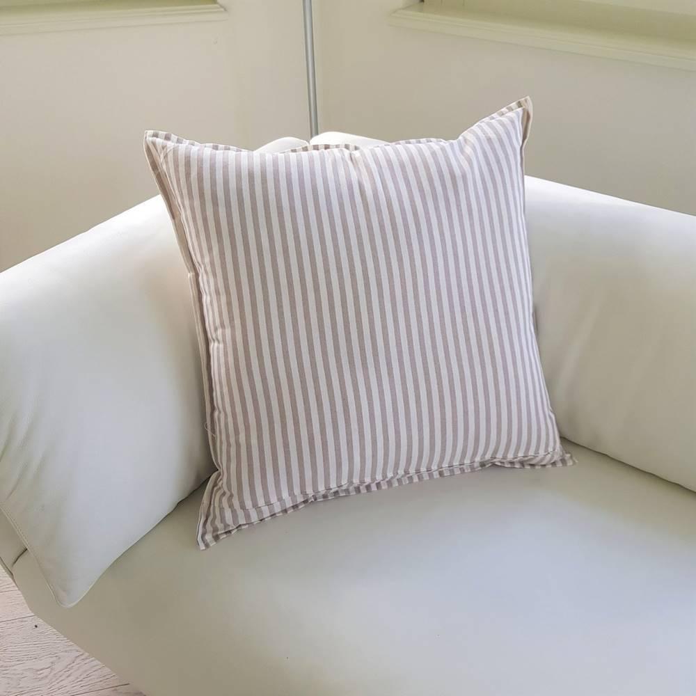 Cuscino arredo 70 x 70 millerighe beige