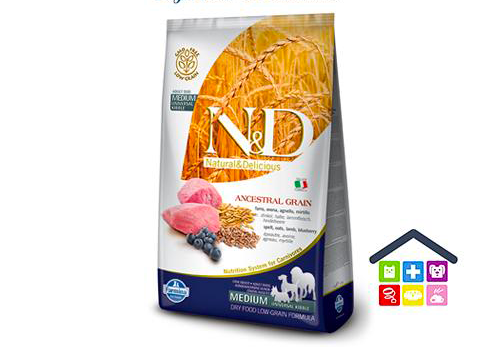 Farmina N&D  ANCESTRAL GRAIN CANINE | Gusto Agnello e Mirtillo - medium/maxi 2,5kg /12,5kg