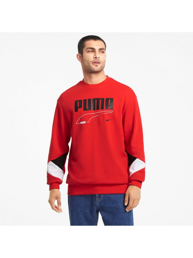 Felpa Puma - Rebel Crew Hig Risk Red 585740-11