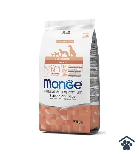 Monge All Breeds Adult Salmone e Riso 2,5kg / 12 Kg