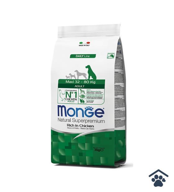 Monge Maxi Adult Ricco di Pollo / 3-12 Kg