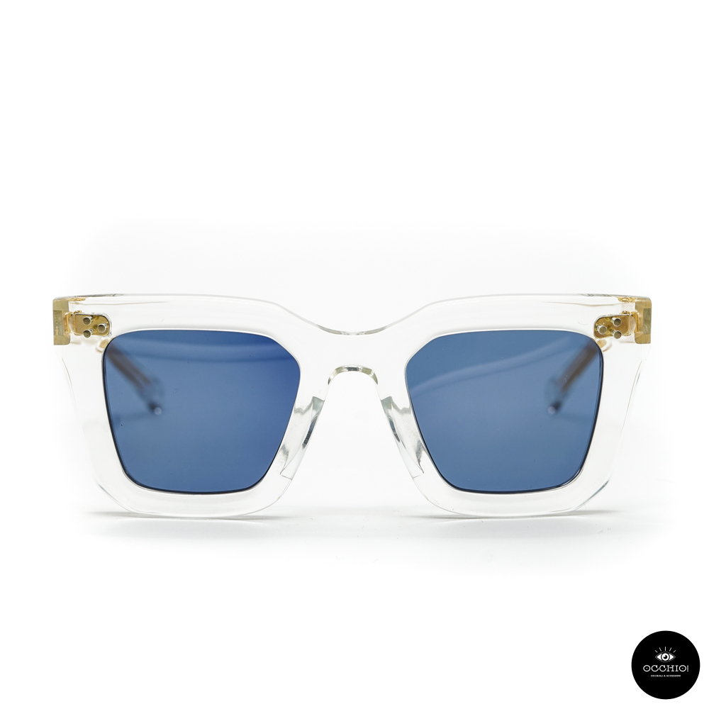 SAUVAGE, Varda Clear crystal / Solid Blue
