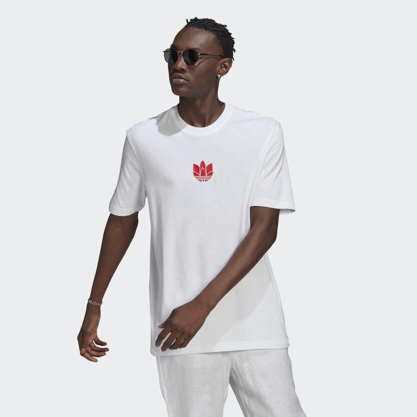 T-shirt Adidas - 3D TF Tee White/Scarle GN3546