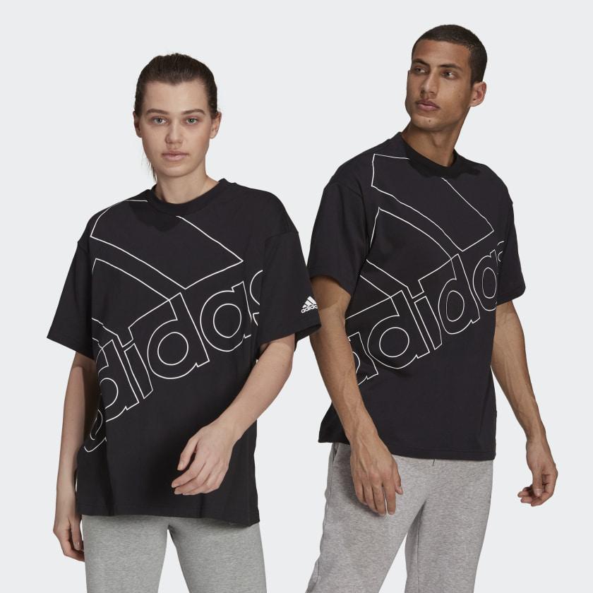 T-shirt Adidas - U FAV Q1 Black/White GK9422