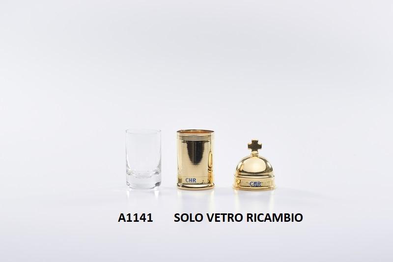 Ricambio vetro per vasetto vintage oli santi