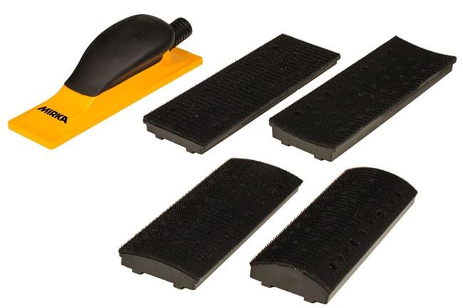 Kit Tampone 70x198mm Grip 40F Giallo + adattatori Mirka