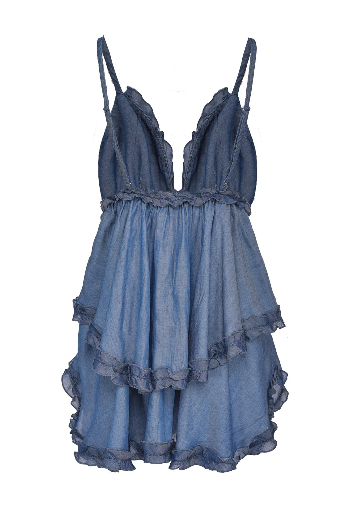SHOPPING ON LINE PINKO TOP LINGERIE IN DENIM LYOCELL DIANA NEW COLLECTION WOMEN'S SPRING SUMMER 2021