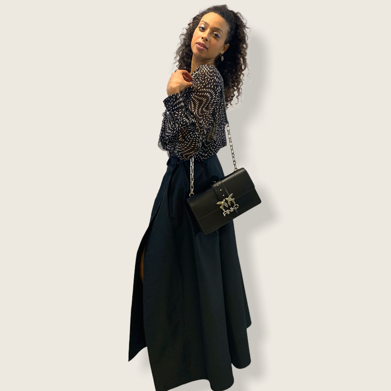 SHOPPING ON LINE PINKO GONNA LUNGA IN TAFFETA PROPENSO NEW COLLECTION WOMEN'S SPRING SUMMER 2021