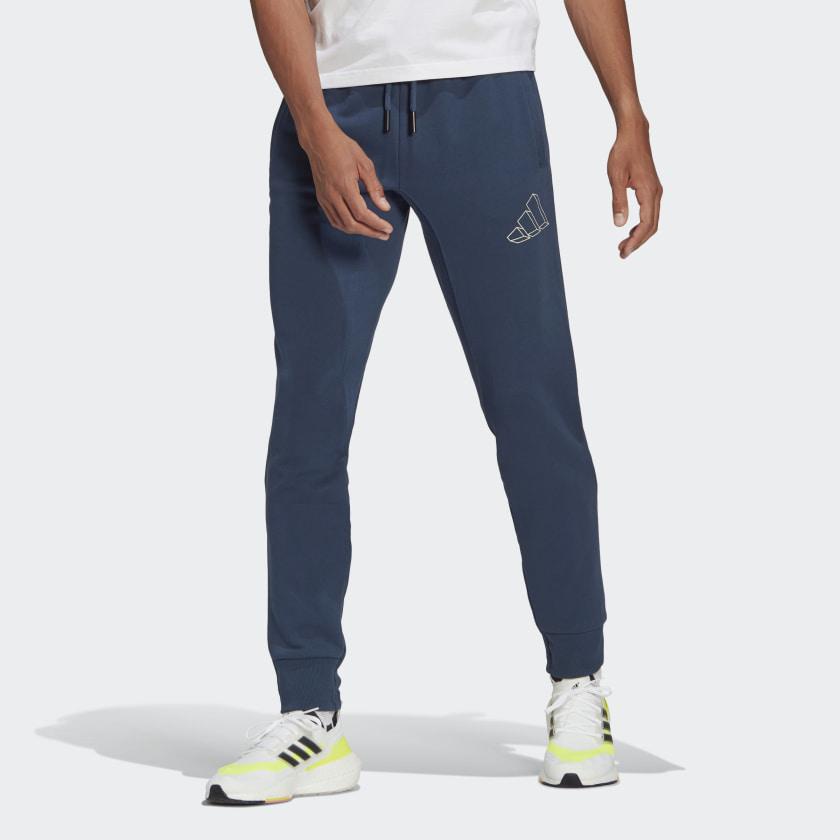 Pantalone Adidas - Sportswear Graphic Crew Blu GL5669