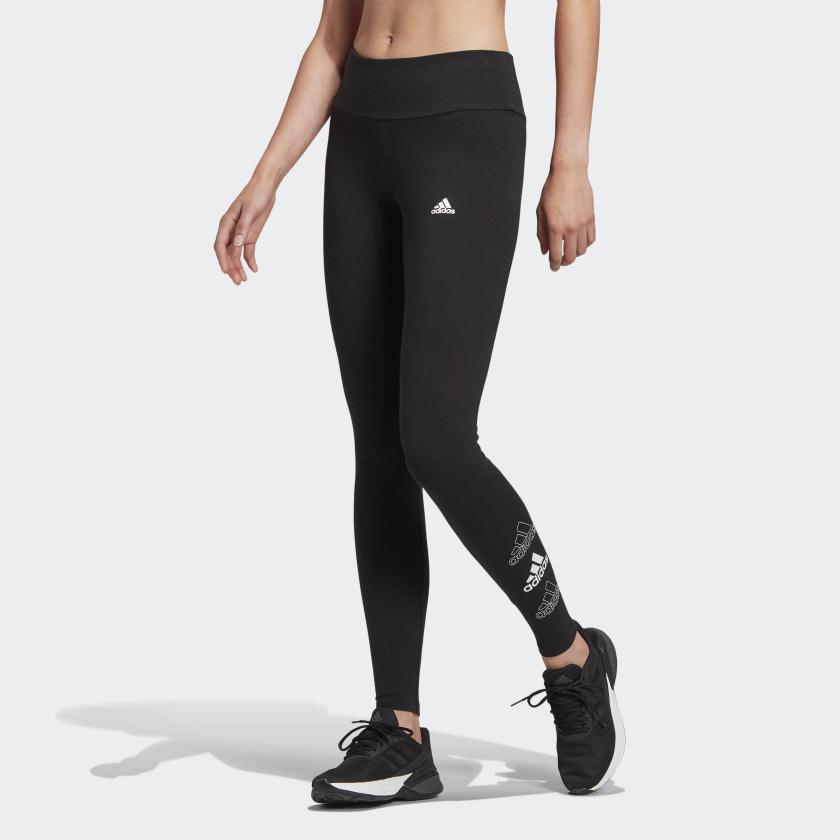 Leggings Adidas - Nero Essentials Logo GL1396