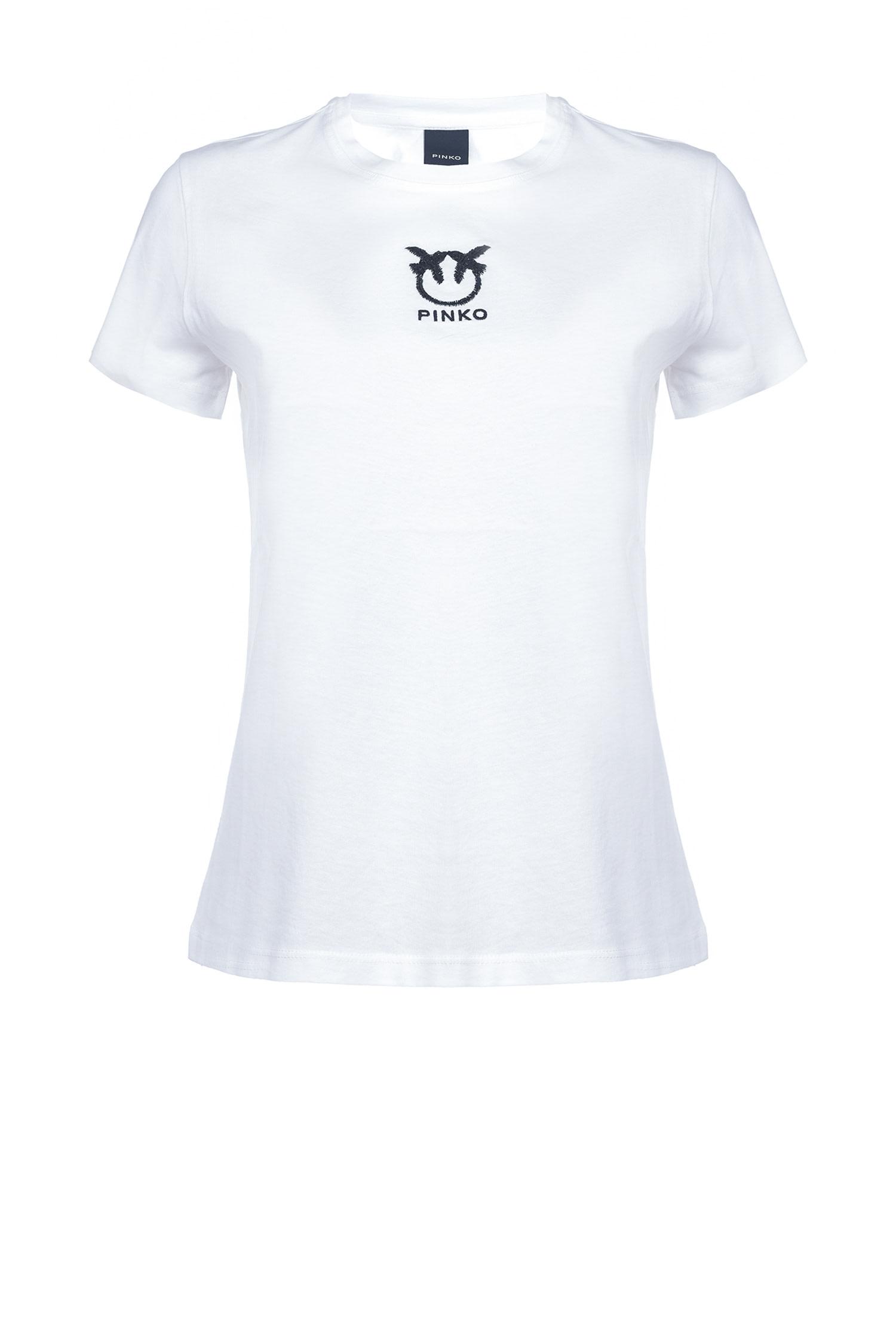 T-shirt Bussolano logo love birds citronella Pinko