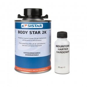 BODY-STAR 2K PROTETTIVO GRIGIO/NERO ML 500 + CATALIZZATORE GRIGIO CHIARO- SISTAR