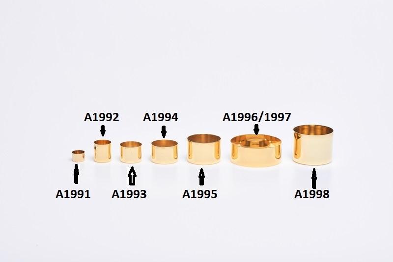 Bossolo classico ottone dorato diam. 2