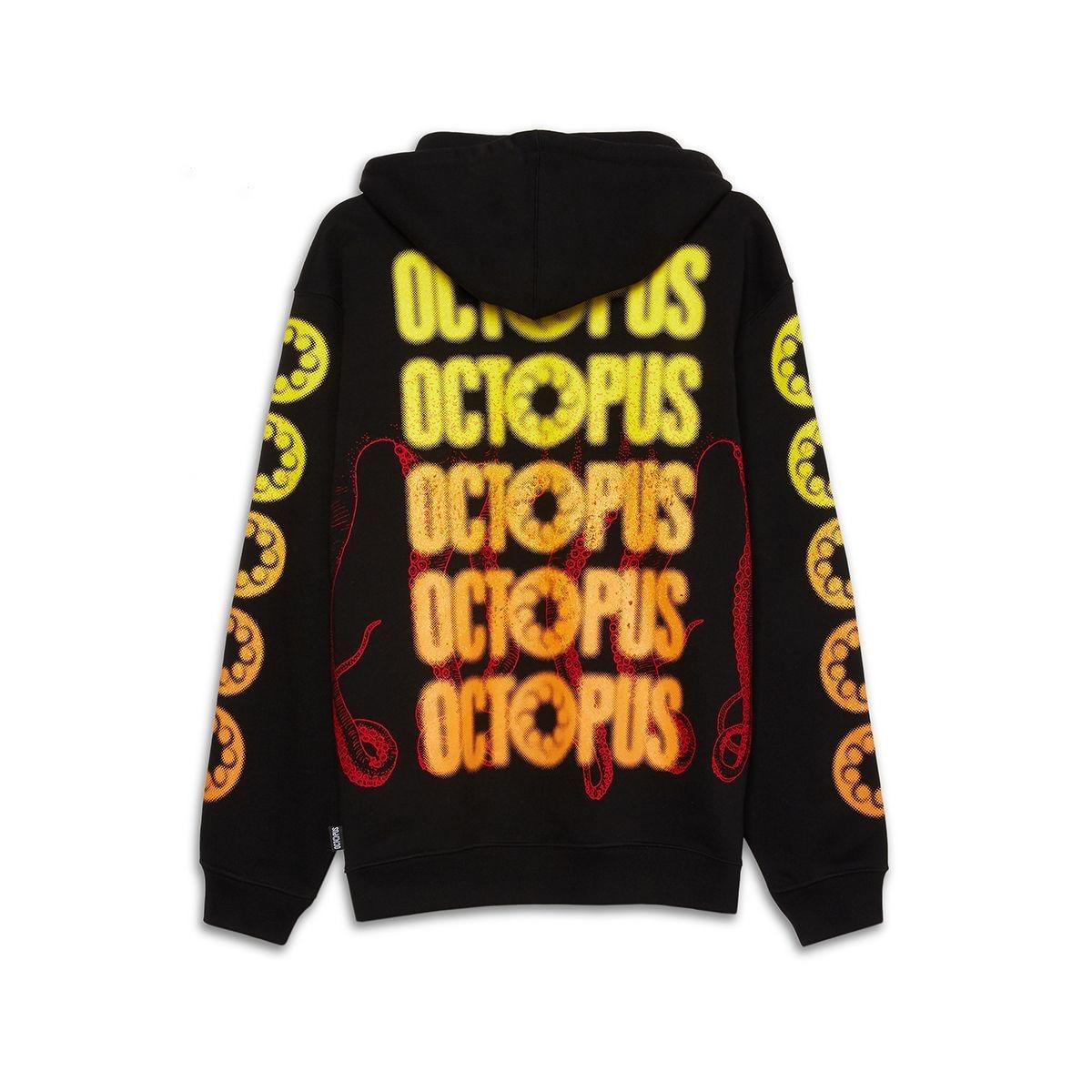 OCTOPUS Hoodie Blurred Black