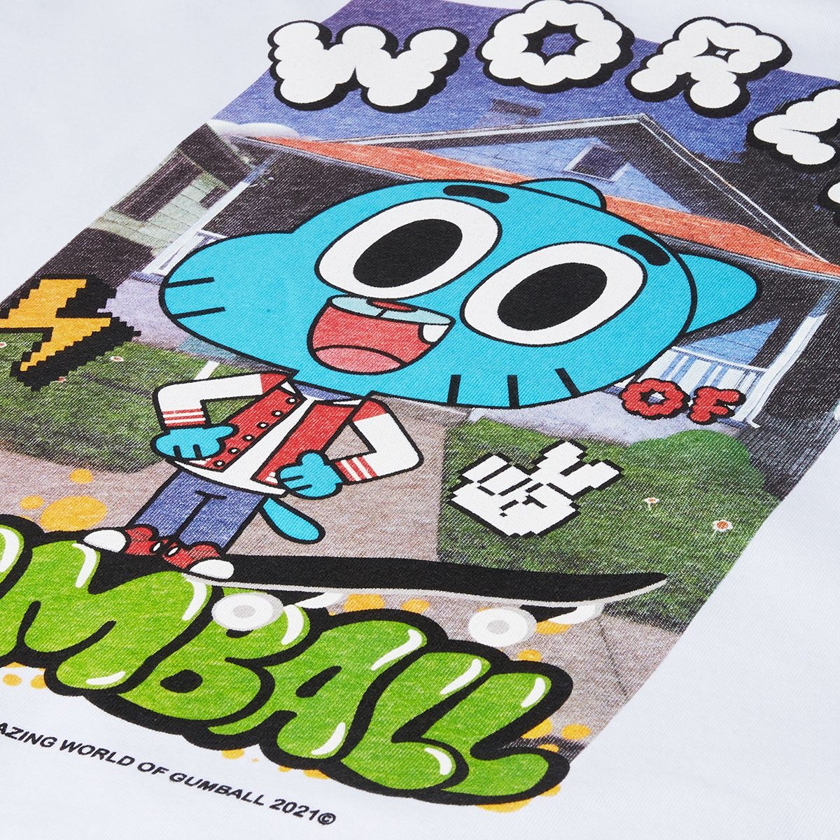 OCTOPUS X Gumball Crewneck World White