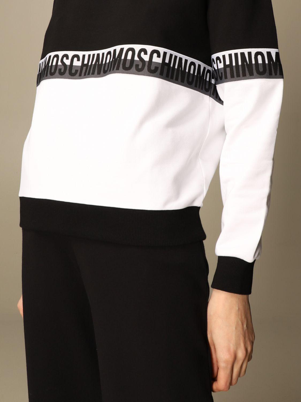 Felpa con logo moschino underwear