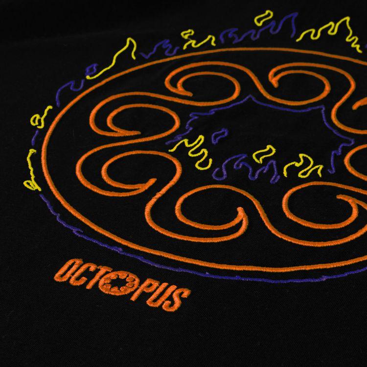 OCTOPUS Tee More Fire Logo Black