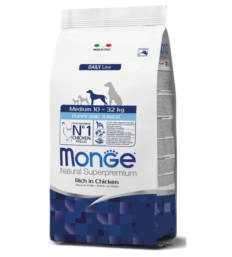 Monge - Natural Superpremium - Medium Puppy&Junior - 12 kg