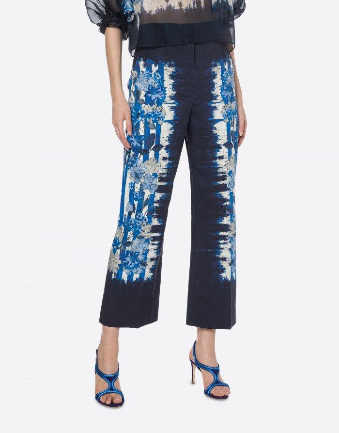 Pantalone floreal alberta ferretti