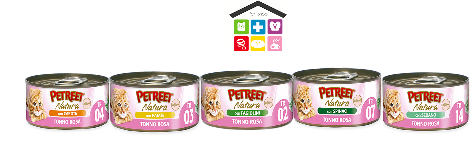Petreet- natura 0,70 g tonno rosa con fagiolini, patate,spinaci,carote,sedano