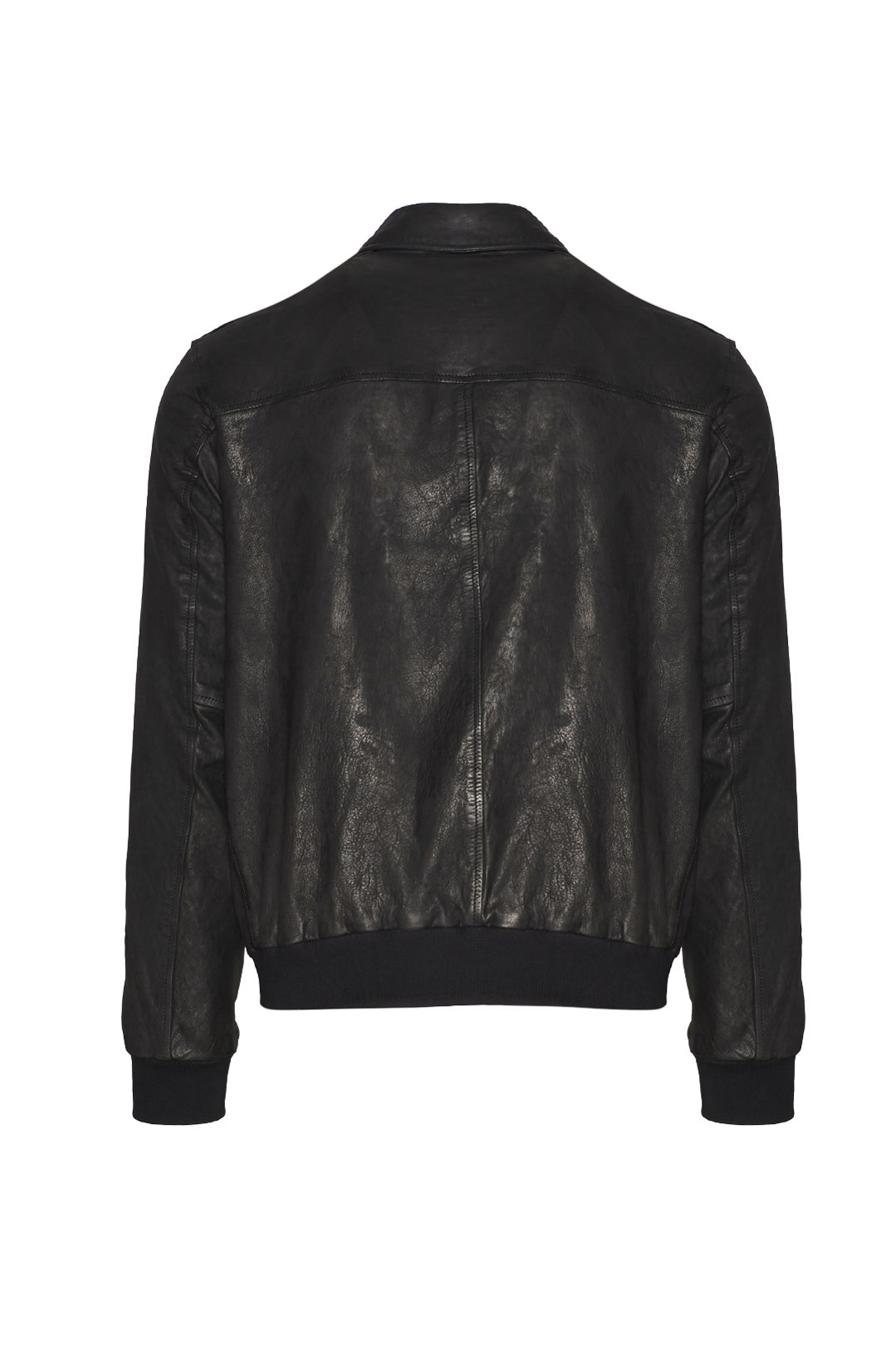 Collared Leather Jacket 2