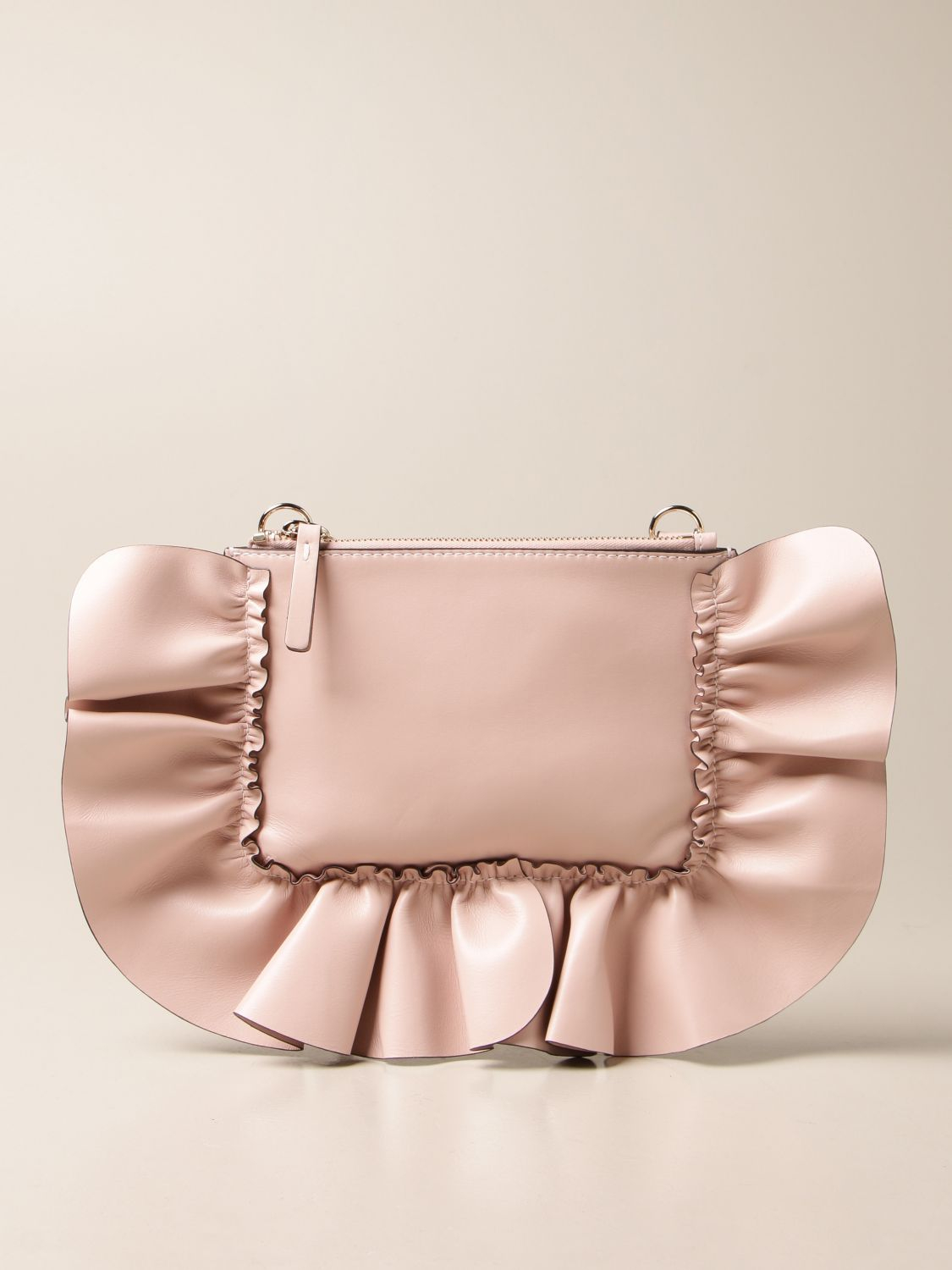 Pochette in pelle con ruches di Red valentino