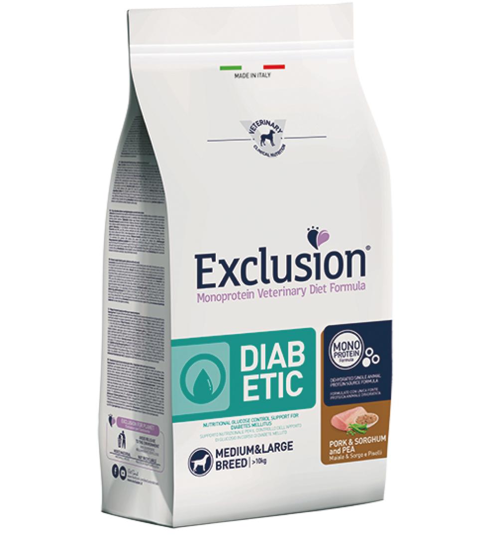 Exclusion - Veterinary Diet Canine - Diabetic - Medium/Large - 12kg