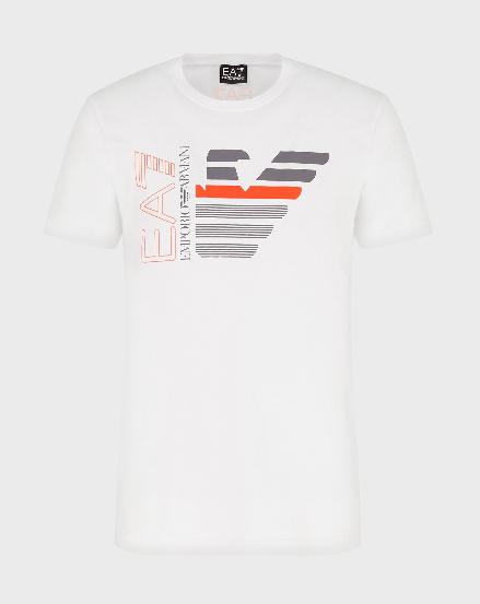 T-shirt uomo ARMANI EA7 con logo acquila