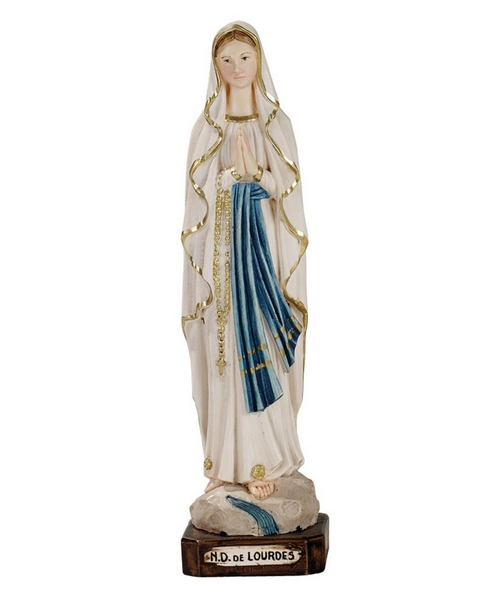 Madonna di Lourdes in resina cm. 20