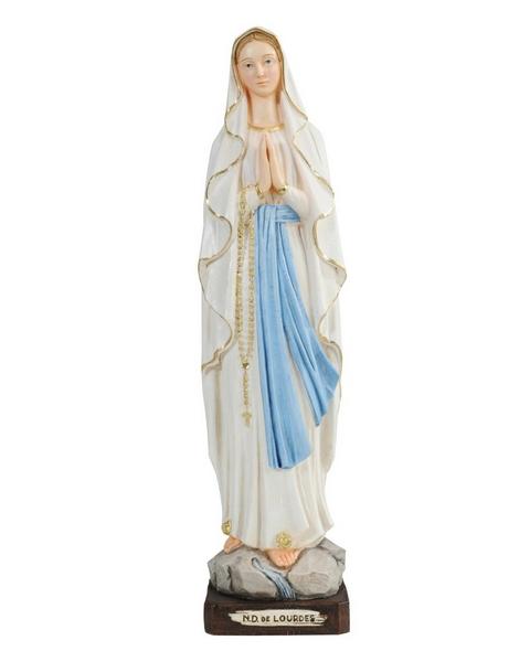 Madonna di Lourdes in resina cm. 40