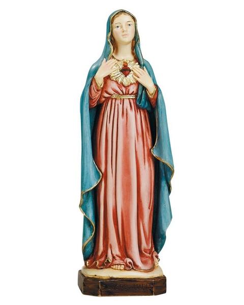 Sacro Cuore di Maria in resina cm. 22