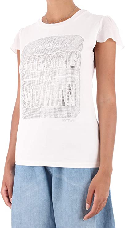 T-shirt donna con strass - TWINSET