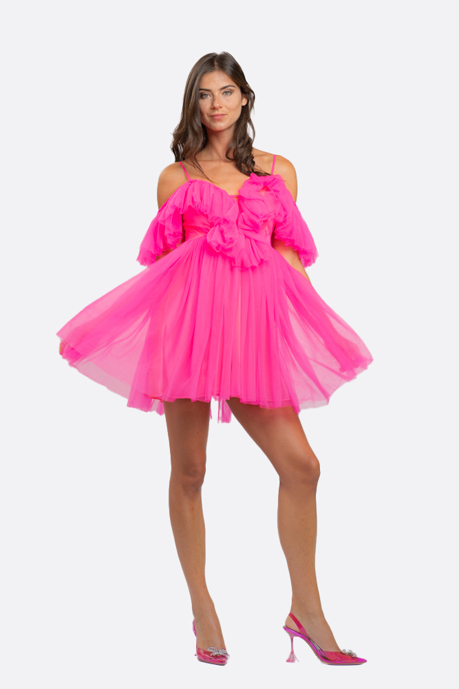 NOSECRETS 211NS045 Abito in tulle senza spalle