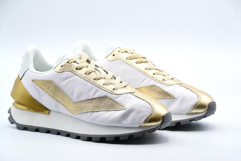 NOVITA' P/E 2021 Voile-Blanche Sneakers Donna Qwark Spur Woman Laminato/Nyl Platinum-White 04.1Q17