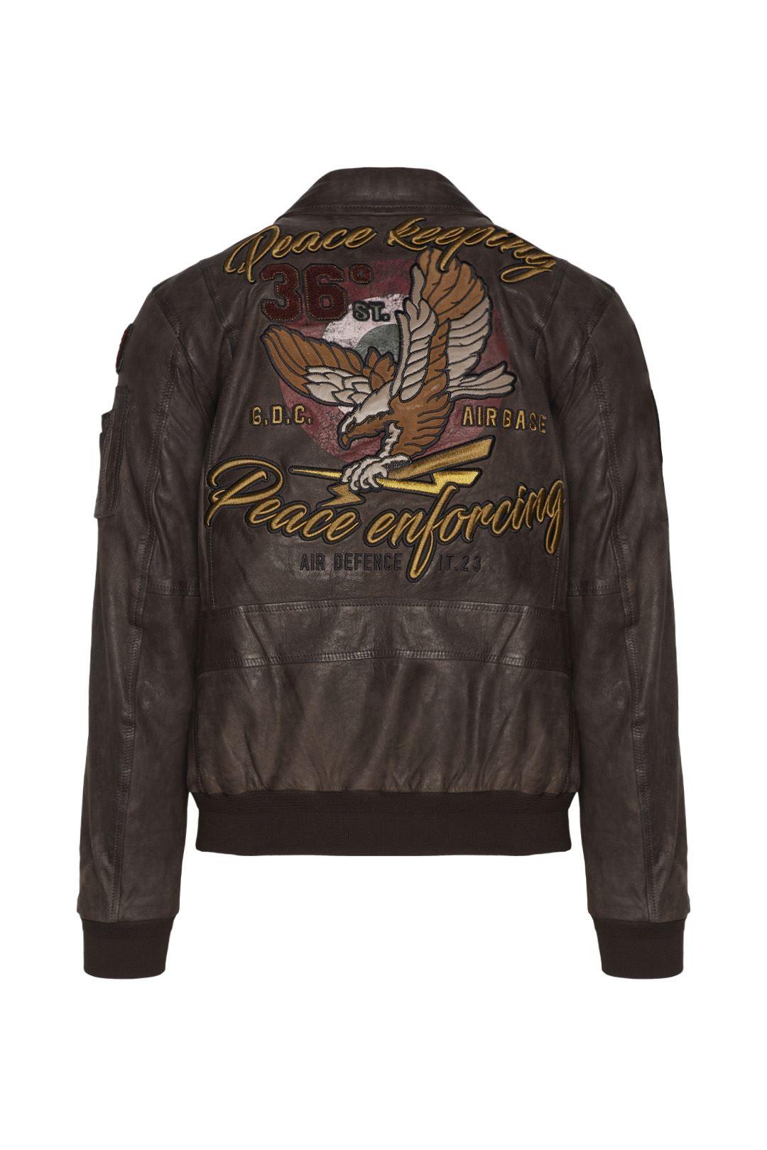 Leather Printed Jacket 2
