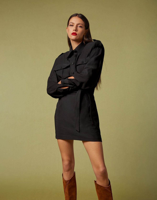 Mini abito nero Maria vittoria paolillo