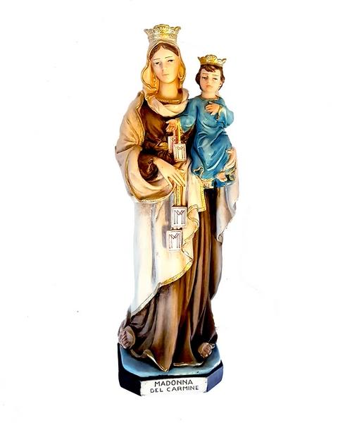 Madonna del Carmelo in resina cm. 30