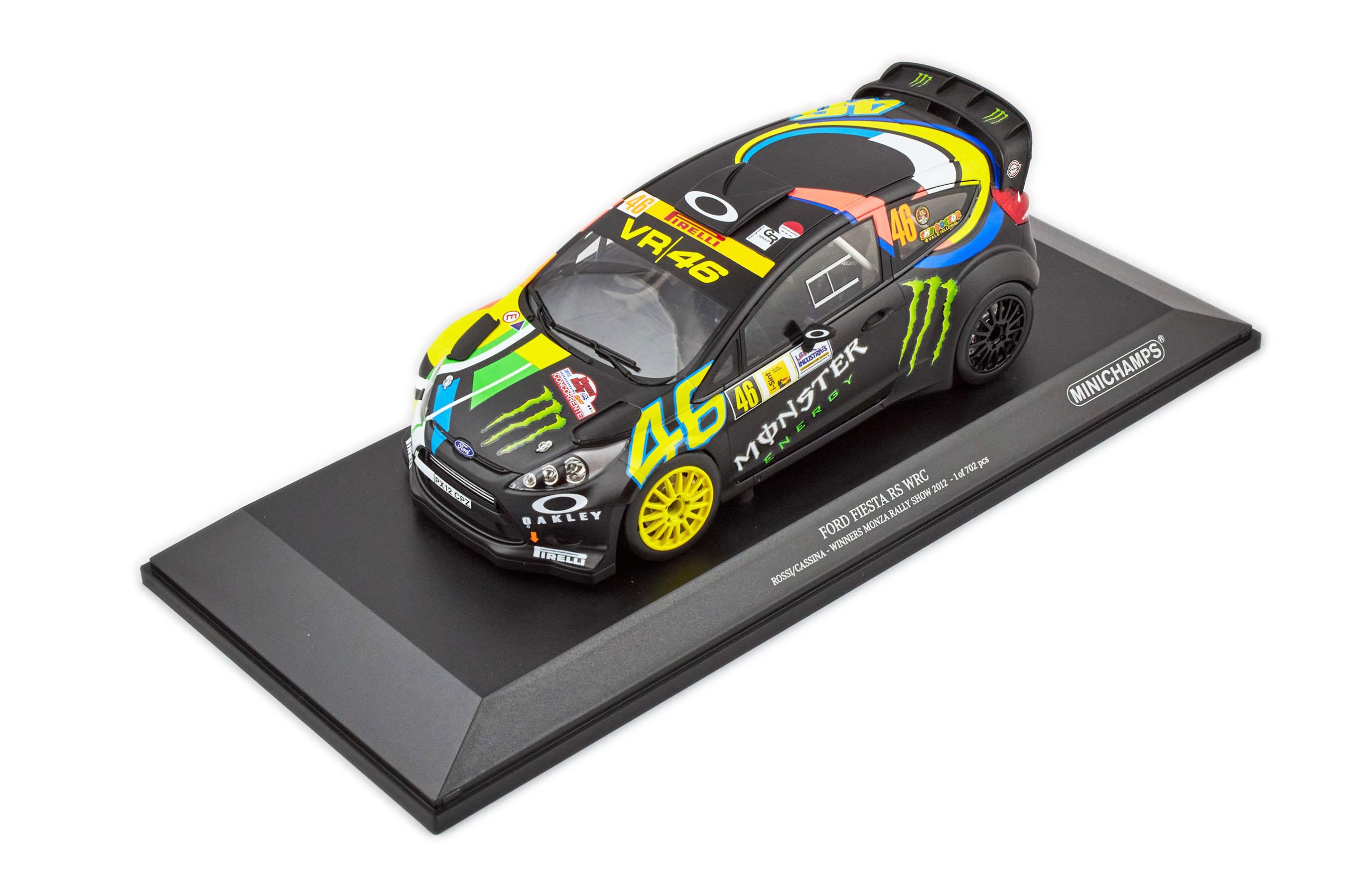 Ford Fiesta Rs Wrc Valentino Rossi VR46 Winner Monza Rally 2012 1/18 Minichamps