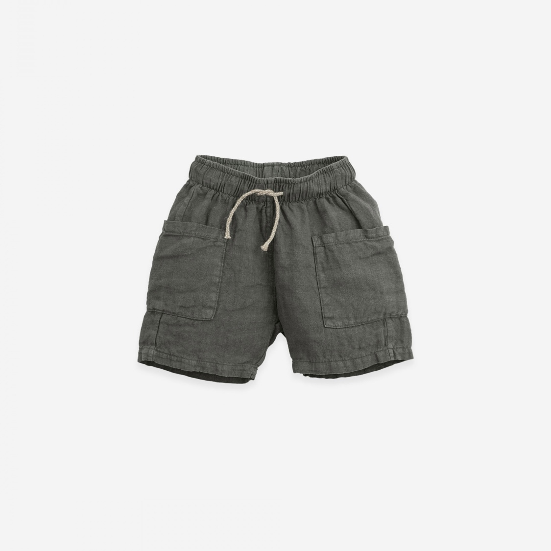 Pantaloncini di lino con tasche grandi