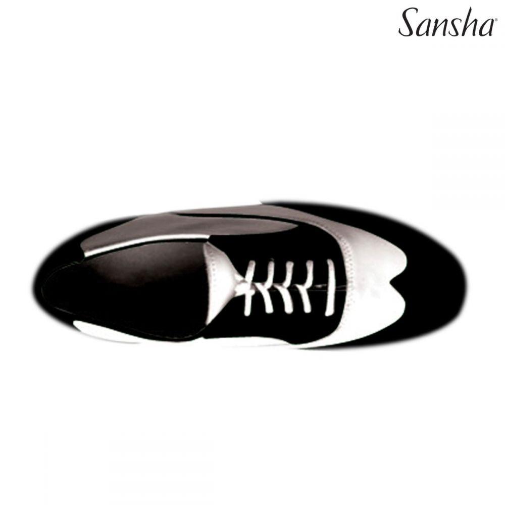 GISTA88LT-Bojango Scarpa da tip tap  Sansha bicolore in  vera pelle