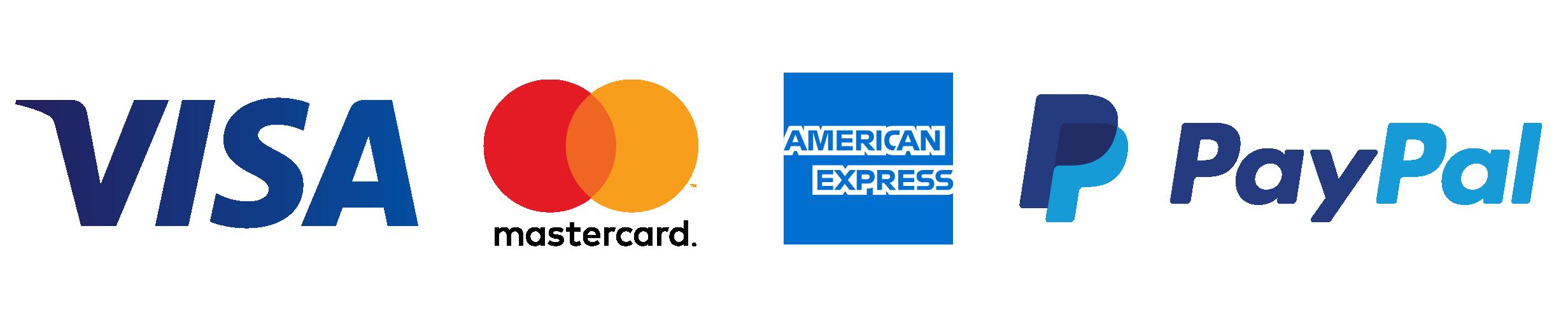Payment methods: VISA, MasterCard, AmericanExpress, PayPal