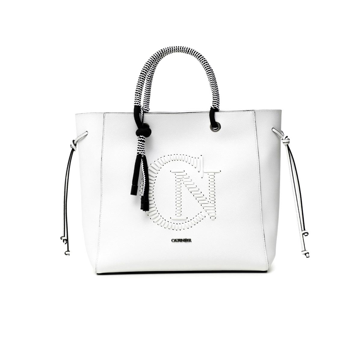 Shopping Bag con logo intrecciato