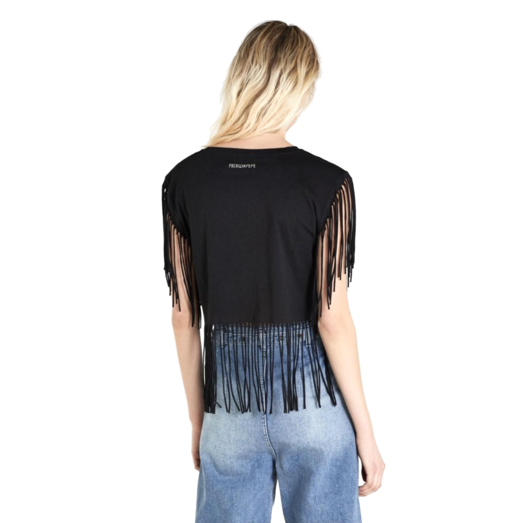 T-Shirt con Frange PATRIZIA PEPE