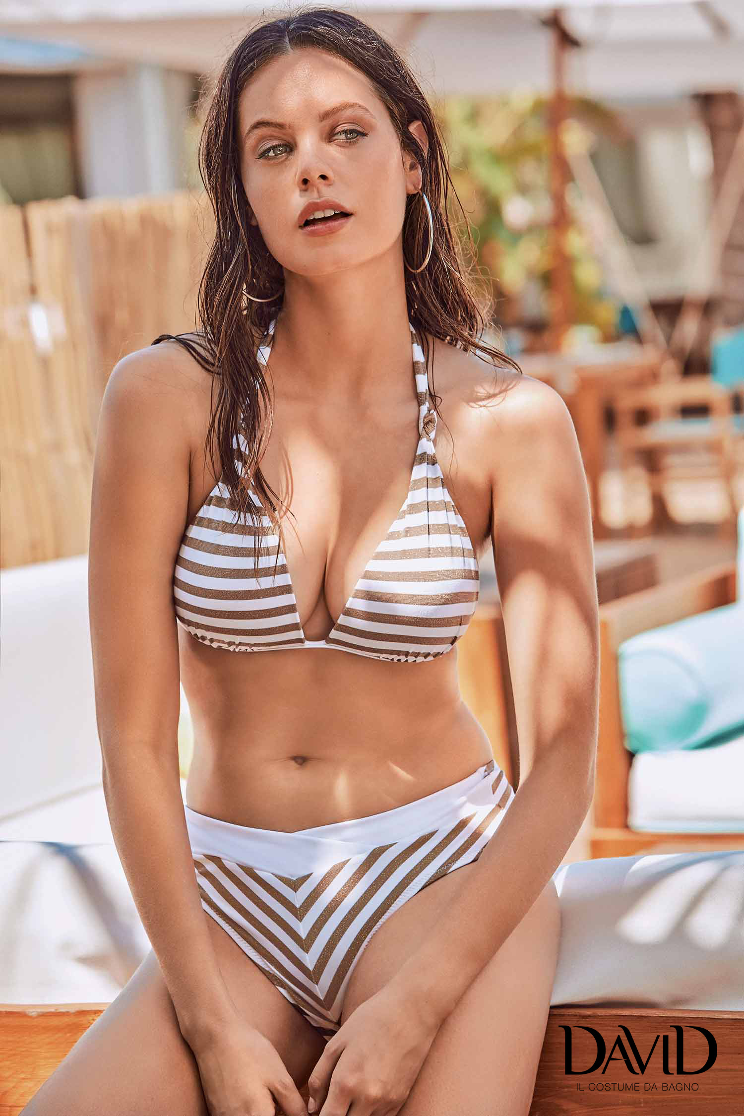 Costume da bagno per donna bikini due pezzi a righe DAVID